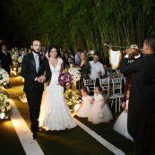 Estrutura para casamento corredor