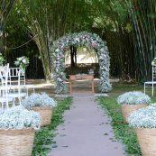 Estrutura para casamento jardim